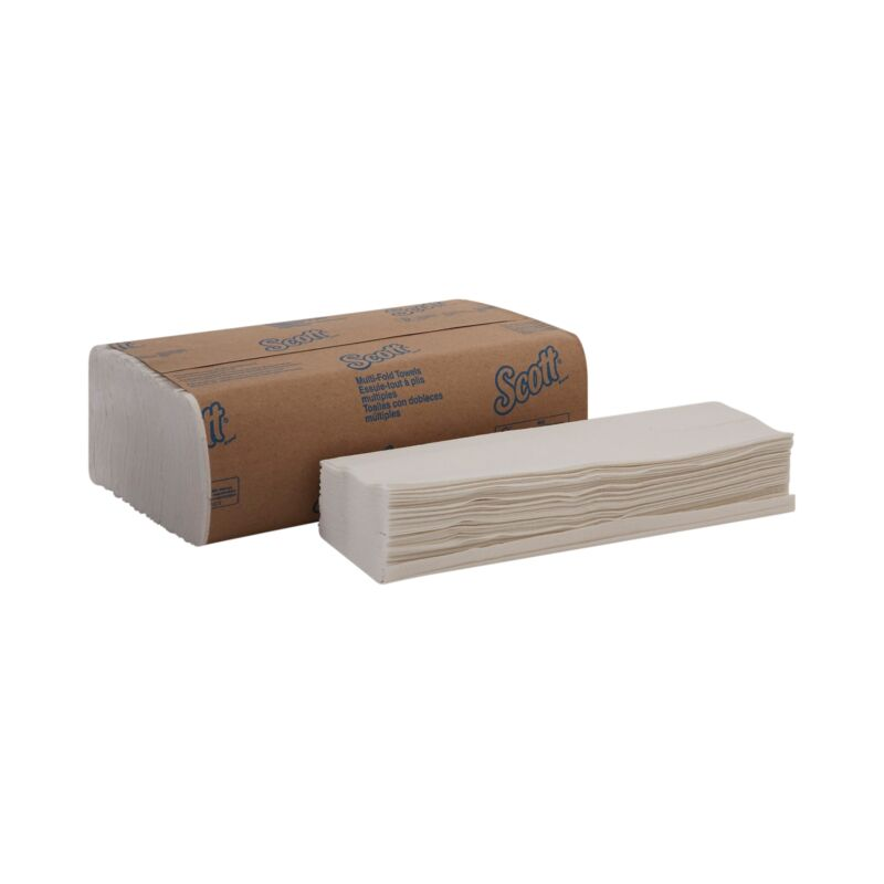 "Scott Multi-Fold Paper Towels 01804 9.25""x9.5"" Pack of 250 Towels"