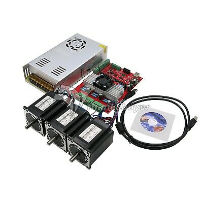Mach3 Usb 3-axis Cnc Kit Tb6560 Stepper Motor Driver Boardnema23 Stepper Motor