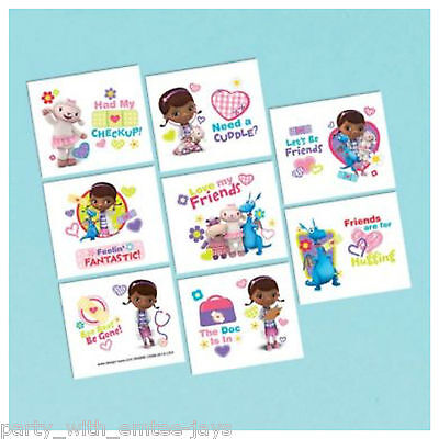 os - Doc Birthday Party Favours and Loot Ideas - Disney (Doc Mcstuffins Tattoos)