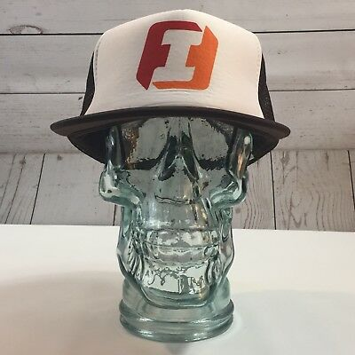 First Interstate Bank Designer Award Cap Brown Mesh Adjustable Trucker Hat Cap