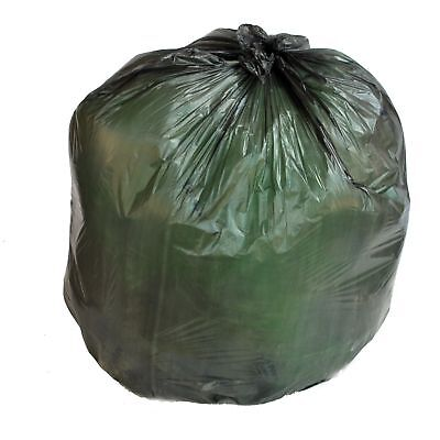 PlasticMill 50-60 Gallon, Black, 17 Micron, 36x60, 150 Bags/Case, Garbage Bags.