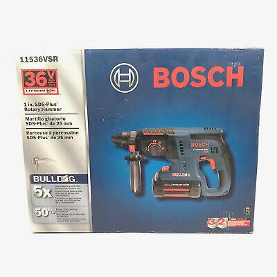 New Bosch 11536vsr 36v Cordless Rotary Hammer Kit W Batteries Charger Sds