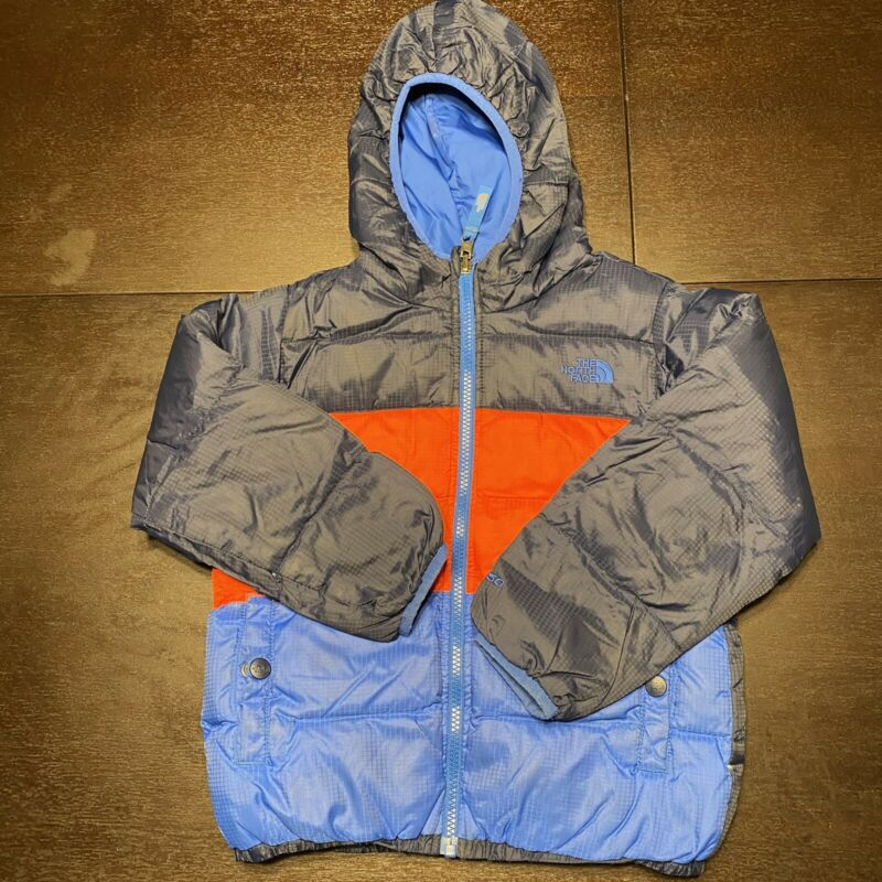 The North Face Boys Reversible Puffer Jacket Blue Size 6