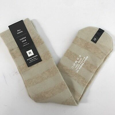 Men's RICHER POORER Socks Classic Crew Flat Knit COMBED COTTON (Classic Flat Knit Sock)