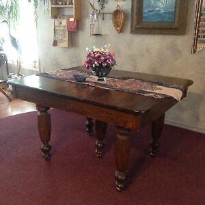Solid hardwood, antique dining table