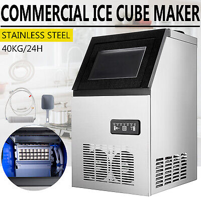 3x8 Pcs Built-in Portable Auto Commercial Ice Maker For Restaurant Bar 90lb24h