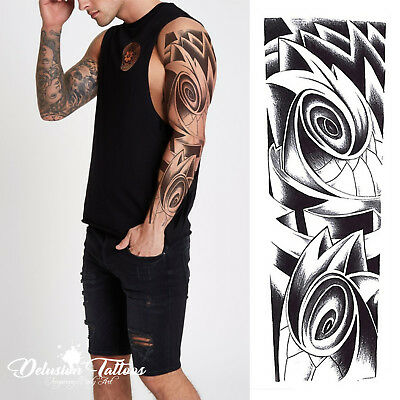 Tribal Tattoo Sleeves (TEMPORARY TATTOO SLEEVE, TRIBAL, ROSES, BLACK, SAMOAN, TRANSFER, MENS,)