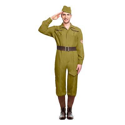 Herren Militär Armee Kriegszeit Soldat Britisch Erwachsene WW1 WW2 Kostüm - Britische Militär Kostüm
