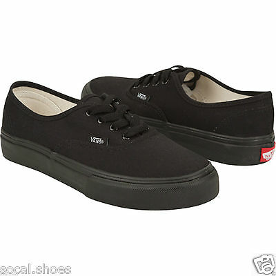 VANS CLASSIC AUTHENTIC ALL BLACK BLACK MONO MEN'S ATHLETIC SHOES NEW WITHOUT BOX