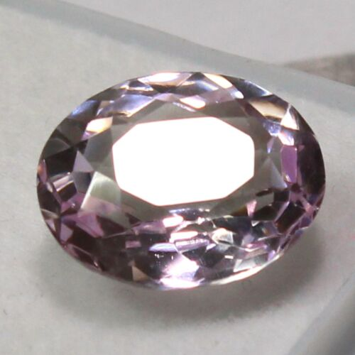 Natural 8.15 Ct Certified Pink Purplish Morganite UNHEATED Gemstones 13x11 mm