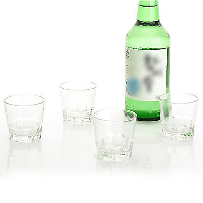 Drinking Glass Sets Shot Glasses 4P Soju Liquor Whiskey Santiago Drinking Glass