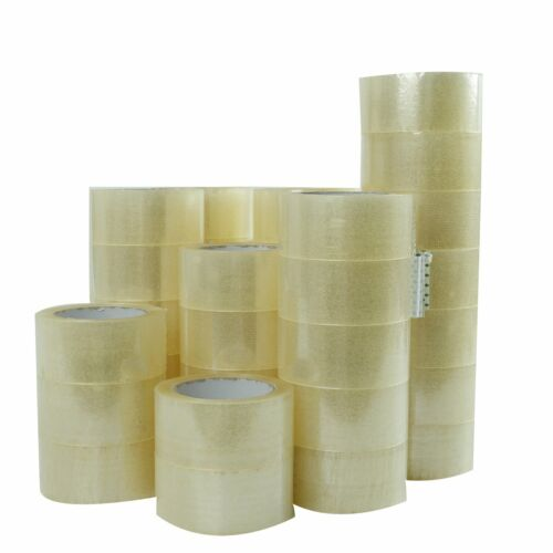 """3 Rolls-2/""""x55 Yards Clear Carton Sealing Packing Packaging Tape 165/' ft"""