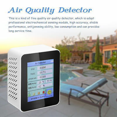 Air Quality Detector Co2 Tester Carbon Dioxide Tvoc Temperature Humidity Meter