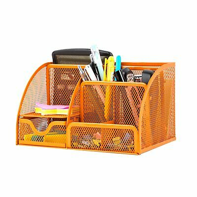 Hgmart Desk Office Supplies Organizer Collection Pencil Holder 6 Compartments