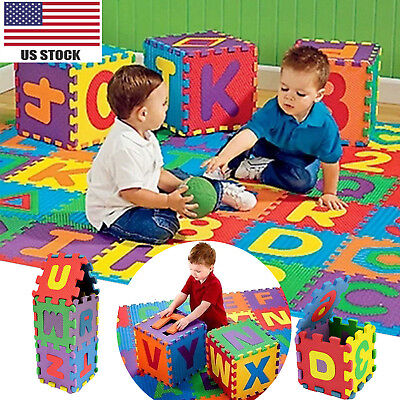 36 Pcs Baby KIds Child Soft Numbers Alphabets Letter Foam Puzzle Play Floor Mats