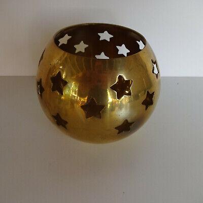 Tea Light Holder Brass With Stars
