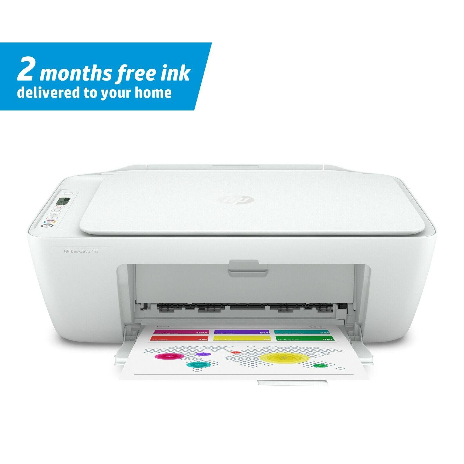 HP DeskJet 2752 Wireless WIFI All-in-One Inkjet Printer Scan