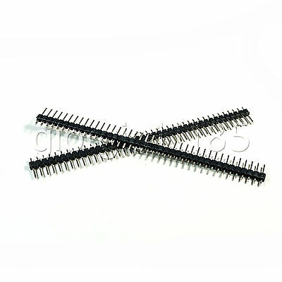Us Stock 50pcs 40-pin 40p 2.54mm Single Row Straight Male Pin Header Strip