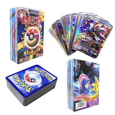 70pcs GX MEGA EX English Pokemon Different Cards 69pcs GX + 1pcs Trainer Cards