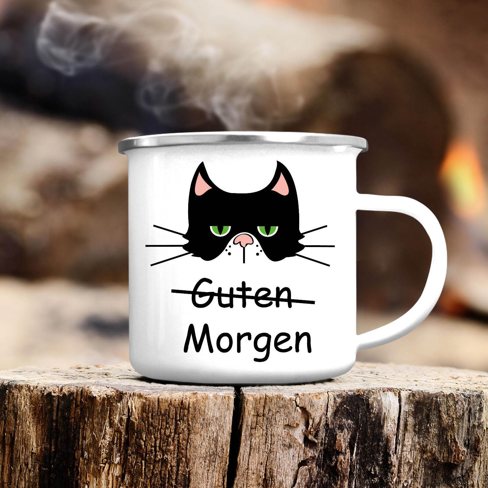 Geschirr Besteck Gläser Becher Katze No1 Muschifreund