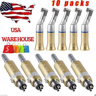 Usa 10 Dental Low Slow Speed E-type Handpiece Contra Angle Latch 4hole Motor