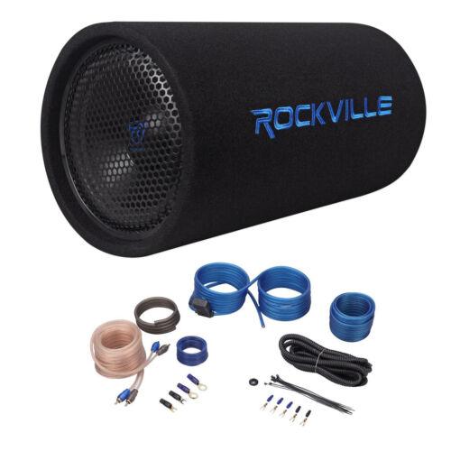"""Rockville RTB10A 10"""" 500w Powered Subwoofer Bass Tube+Bass"""