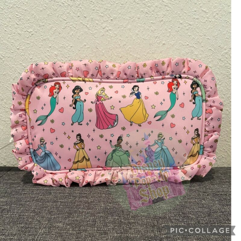 Disney X Stoney Clover Lane Princess Never Stop Dreaming Small Pouch New
