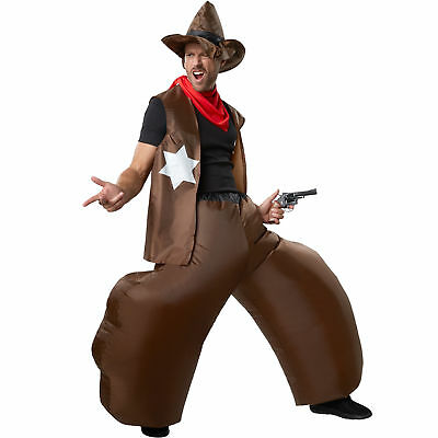 Inflatable Unisex Costume Cowboy Wild Western BlowUp Outfit Fancy Dress Carnival ()