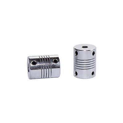 Motor Kupplung (Wellenkupplung flexibel Alu 8mm / 5mm Nema 17 Motor - CNC / RepRap / 3D Drucker)
