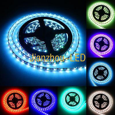 16ft 5050 RGB 60LED/M Mulit-Color 300 LED Strip light Waterproof 12V Black (Mulit Colored Lights)