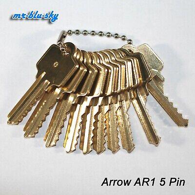 Arrow Lock Ar1 Space Depth Keys Locksmith Code Cutting Key Set