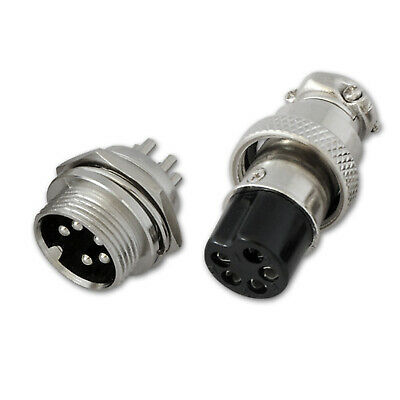 5 Pin Female Male Microphone Connector For Cb Radio Ham Plug