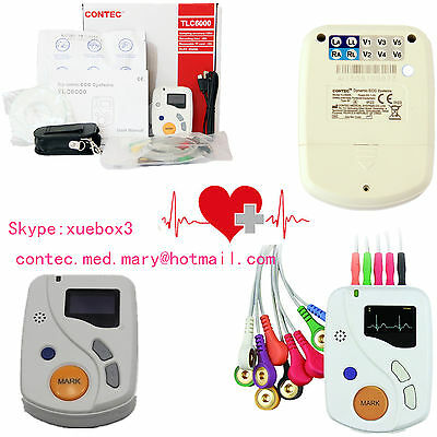 Contec Portable Dynamic Ecg Recorder 48h 12 Lead Holter Tlc6000 Oledsoftwarece