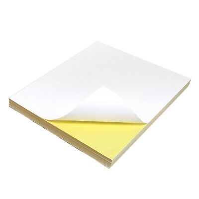 A4 Sticker Paper For Home Printer Multi Purpose Label White Matt Self Adhesive