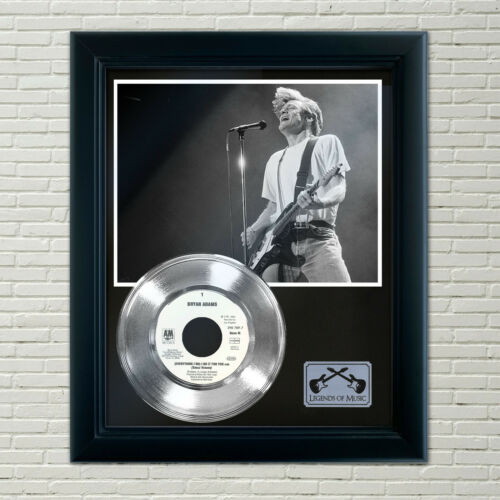 "Bryan Adams ""Everything I Do"" Silver Framed Record Display"