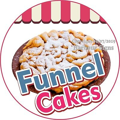Funnel Cakes Decal Choose Your Size Concession Food Truck Vinyl Circle Sticker