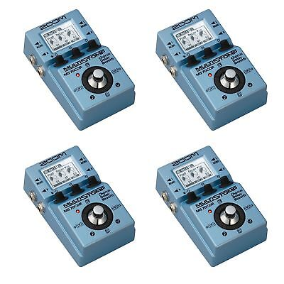 Zoom Multi Effects MultiStomp Chorus Delay Reverb Guitar Pedal Stompbox (4 Pack)