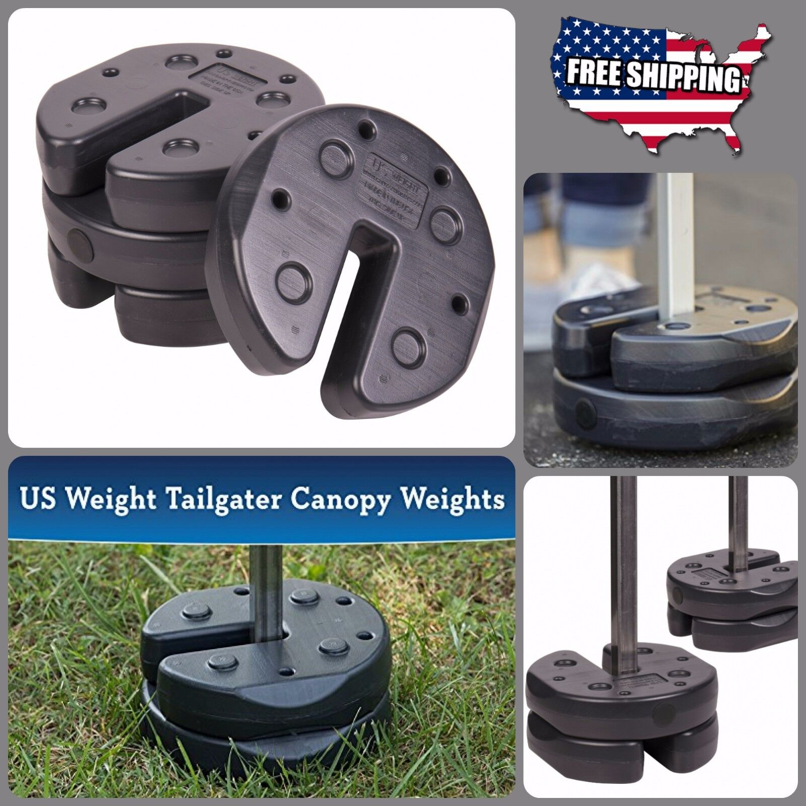 Canopy Tent Weights Led Weight Plates Outdoor Camping Shelte