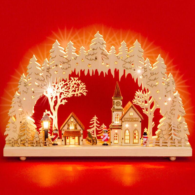 SIKORA LB52 LED Wooden Christmas Arch LED Illumination Winter Village Xmas NEW