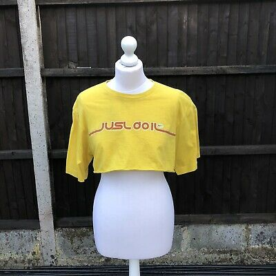 Yellow Nike Crop Top Size Small