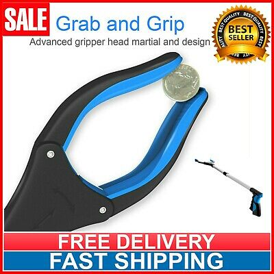 "Industrial Heavy Duty Pick Up Tool Reacher Grabber Trash Rotating Head 32"" Blue"
