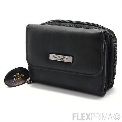 Womens Ladies Leather Purse Wallet Black NEW WITH TAGS RFID TOP QUALITY 23