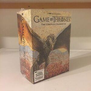 80$ New Neuf Trone de Fer Game of Thrones Dvd Set Seasons 1-6.