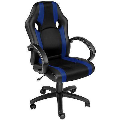 Sedia da ufficio poltrona direzionale girevole per casa studio sportiva blu
