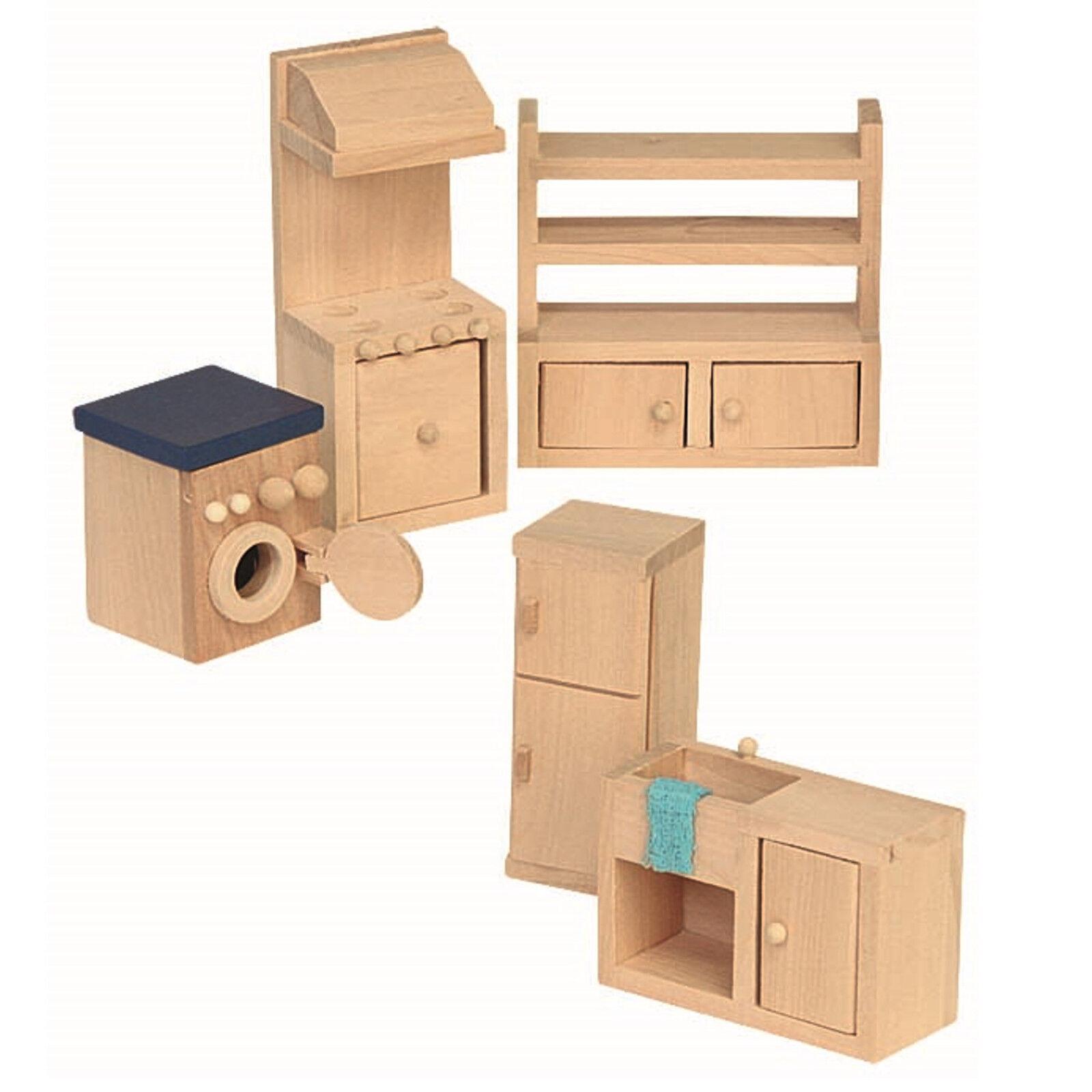 cucina mobili per casa delle bambole LAVATRICE Focolare Forno Lavello ARMADIO