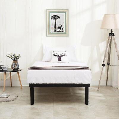Childs Slat - Twin Size Wood Slats Metal Bed Frame Platform Mattress Foundation Kids Bedroom