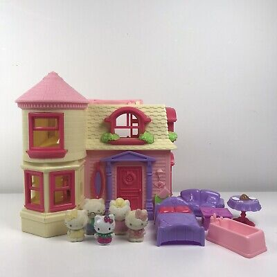 Vintage Blue Box Hello Kitty Yellow/Pink Mansion House