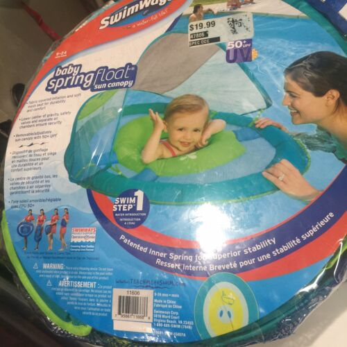 SwimWays Baby Spring Float Sun Canopy Floats Rafts Pool Fun
