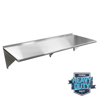 "Stainless Steel Commercial Kitchen Wall Shelf Restaurant Shelving - 18"" x 72"""