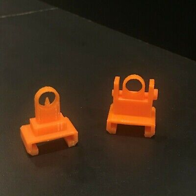 3D Printed Nerf Front and Rear Ring Sights for Nerf Weapon